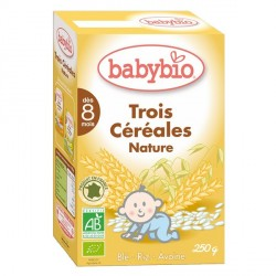 Babybio Tres Cereales Nature 250g