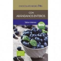Chocolate Negro Arándanos 74% 100g