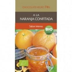 Chocolate Negro Naranja 74% 100g