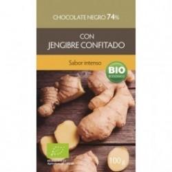 Chocolate Negro Jengibre 74% 100g