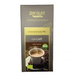 Chocolate Negro 74% con Café