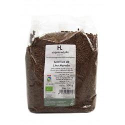 Semilla de lino marrón