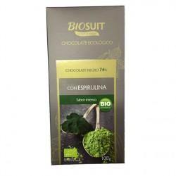 Chocolate Negro 74% con Espirulina