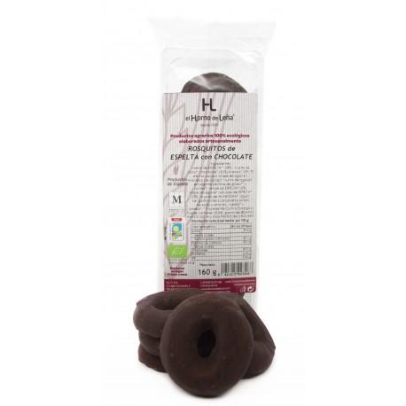 Rosquitos de espelta con chocolate negro