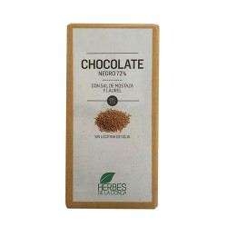 Chocolate Mostaza y Laurel 72% ECO