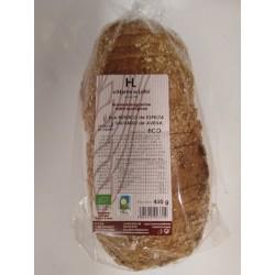 Pan rústico integral de espelta y salvado de avena