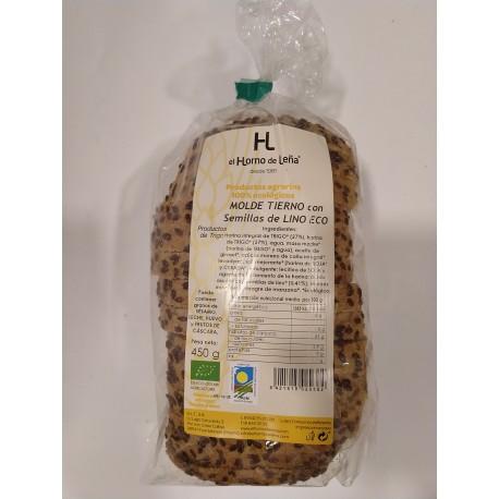 Molde integral con semillas de lino