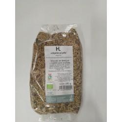 Selección de semillas y nueces para ensaladas